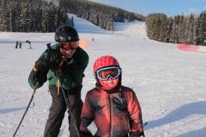 Skiing at Nakiska