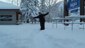 Nakiska Staff enjoying all the snow