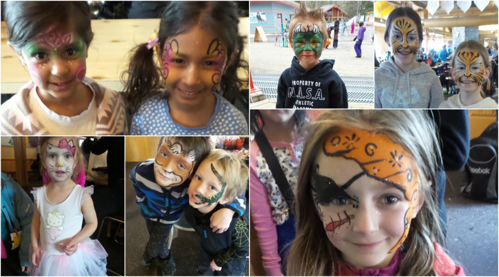 Face Painting Collage